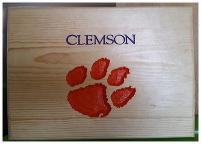 Clemson Tigers Wooden Sign