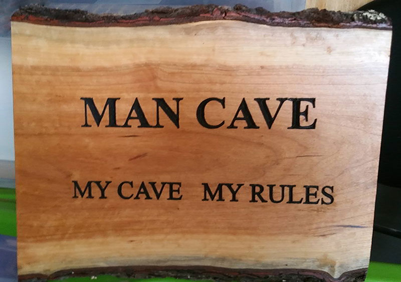 Man Cave Rules : Handmade wooden signs second chance woodcrafts